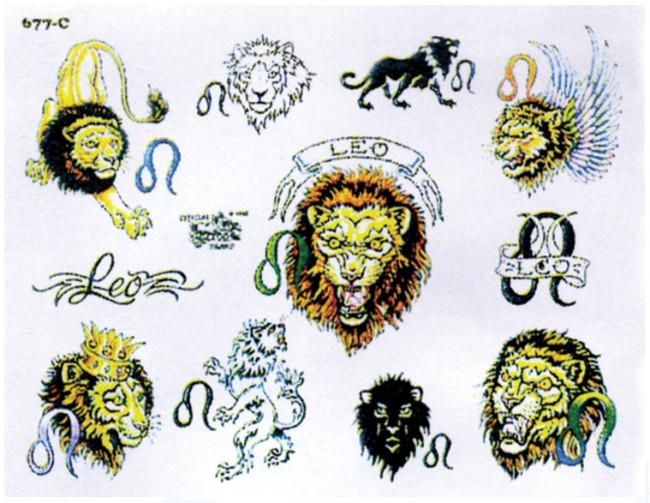 Тату по зодиаку львам